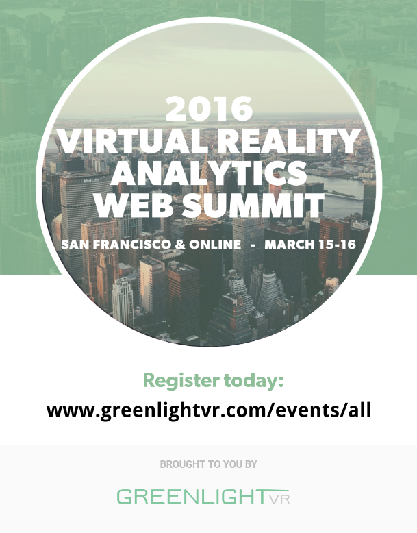 Greenlight VR_2016 VR Analytics Web Summit